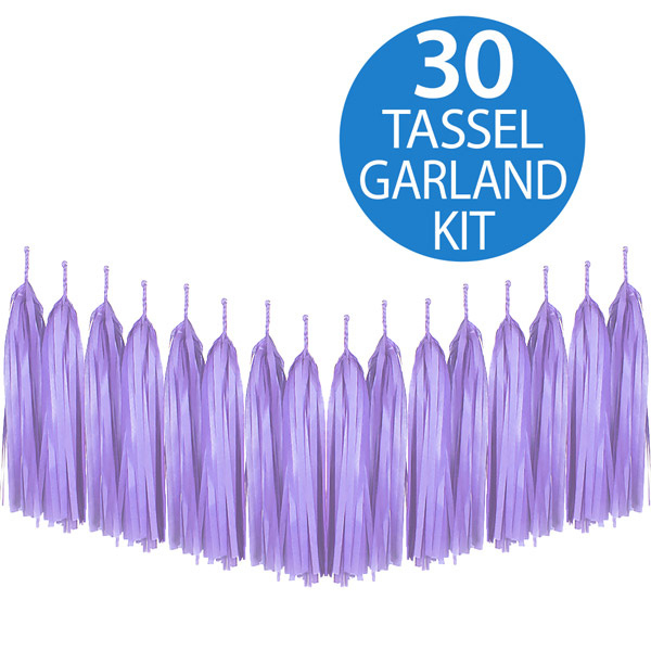 Tassel Garland Tissue Paper Lavender Lilac