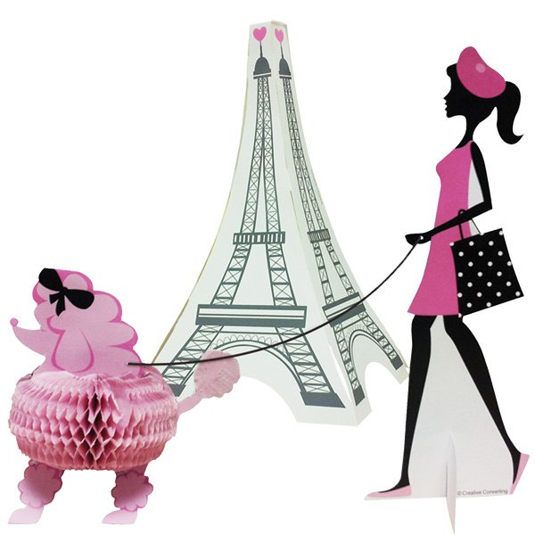Party in Paris Centrepiece 3D Stand-Up Set