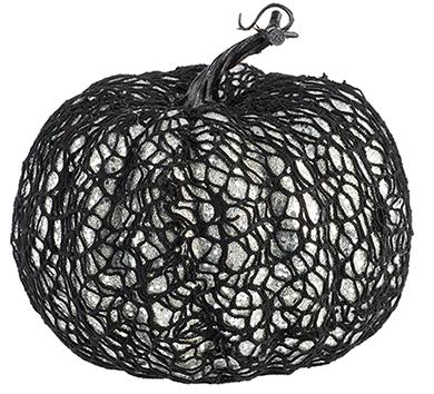 Web Covered Glittered Pumpkin