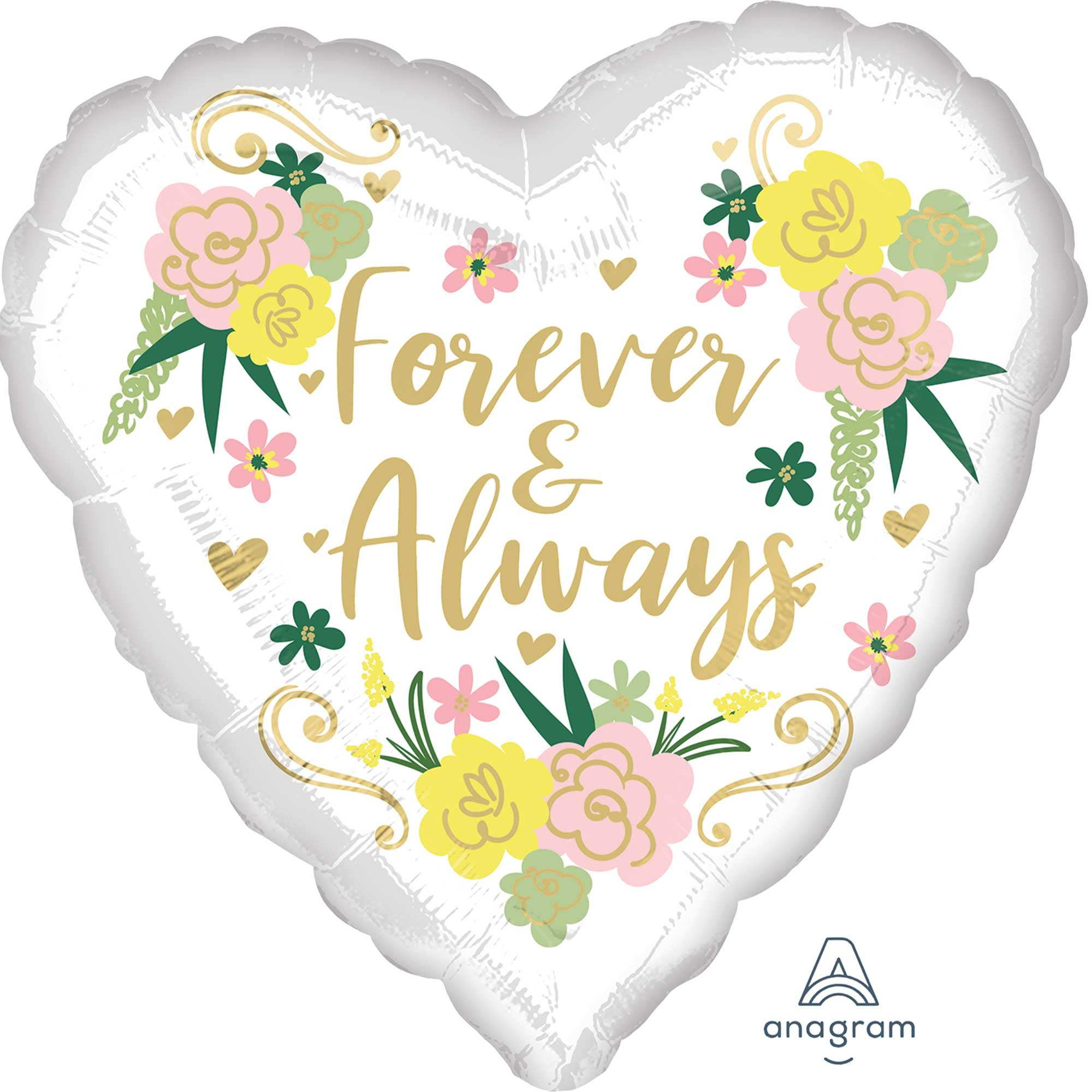 45cm Standard HX Forever & Always Floral Heart S40