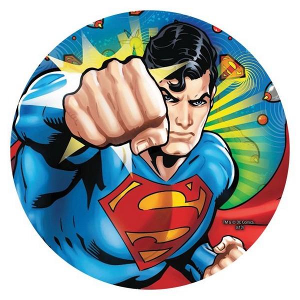 Superman 23cm Round Plates