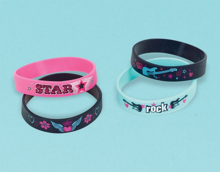 Rocker Princess Rubber Bracelet Favor