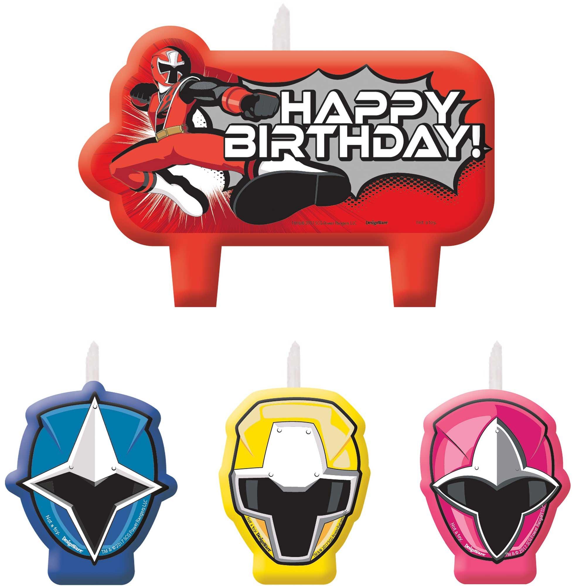 Power Rangers Ninja Steel Happy Birthday Candle Set