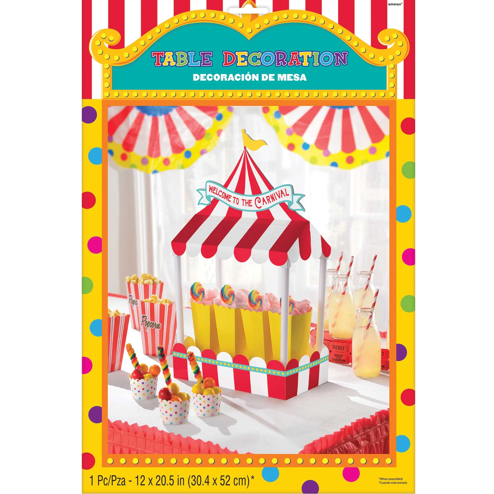 Carnival Games Table Decoration Welcome To The Carnival 53cm x 17cm