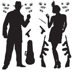 20's Gangster Wall Decorations Insta-Theme Props