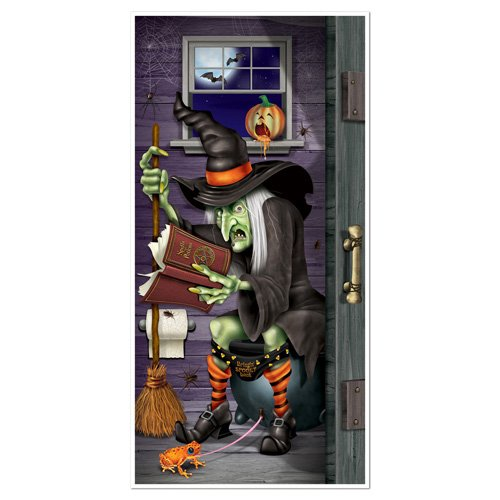 Witch Restroom Toilet Door Cover