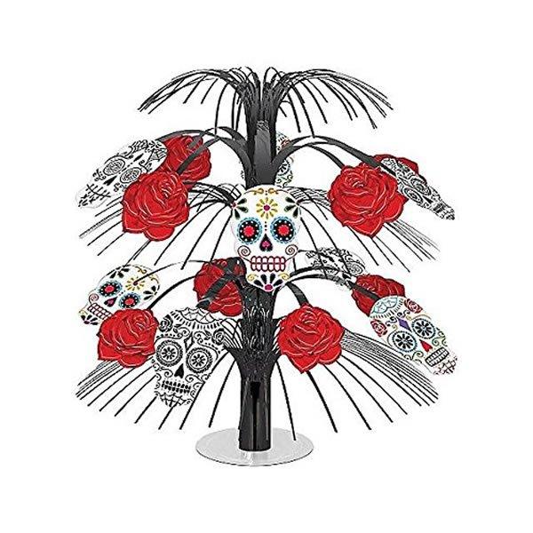 Day of the Dead Black & Bone Cascade Centrepiece Plastic & Foil