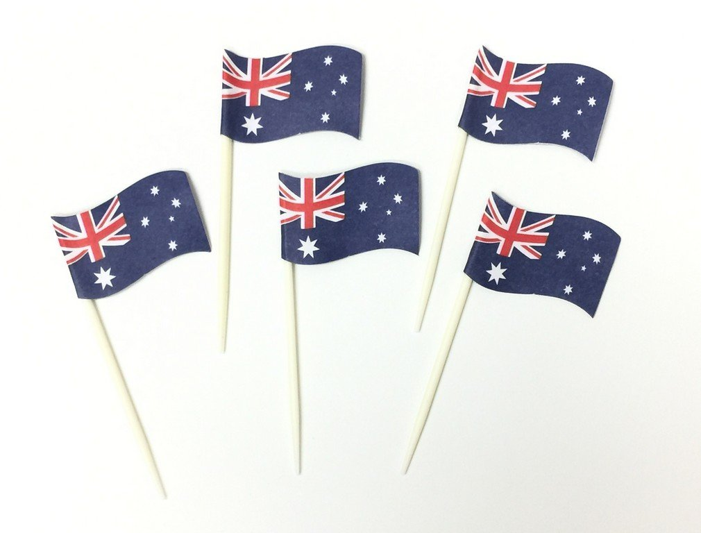 Australia Tooth Pick w/Flags - Plastic