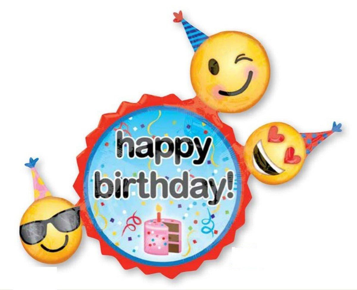SuperShape XL Emoticons Birthday Wishes P40
