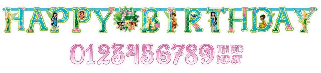 Tinker Bell Best Friend Fairies Jumbo Add-An-Age Banner
