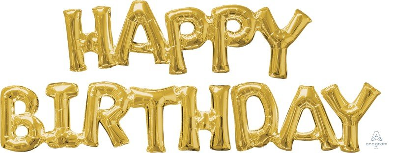 CI: Phrases HAPPY BIRTHDAY Gold G50