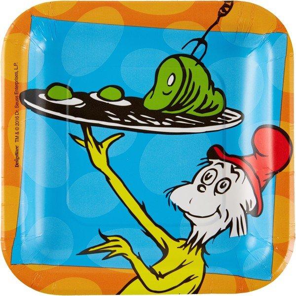 Dr.Seuss 17cm Square Plates