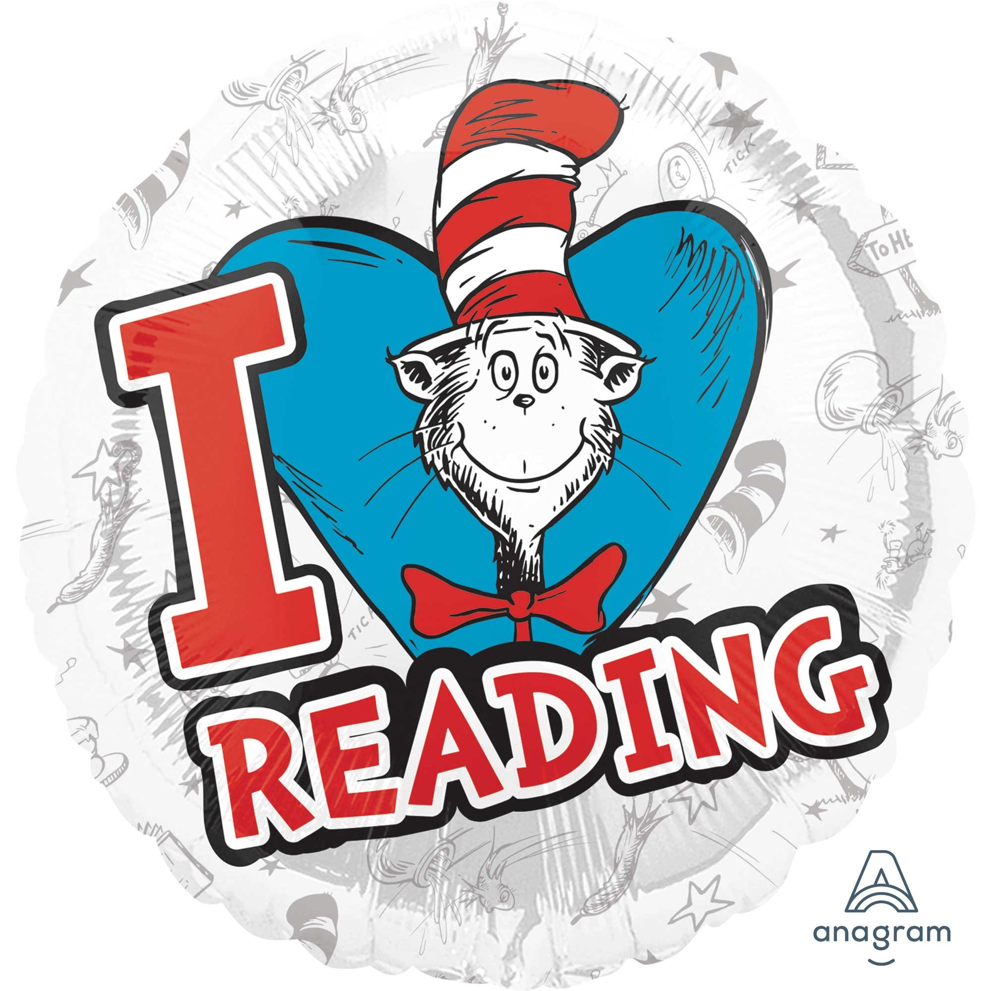 45cm Standard HX Dr. Seuss Hats Off to Reading S60