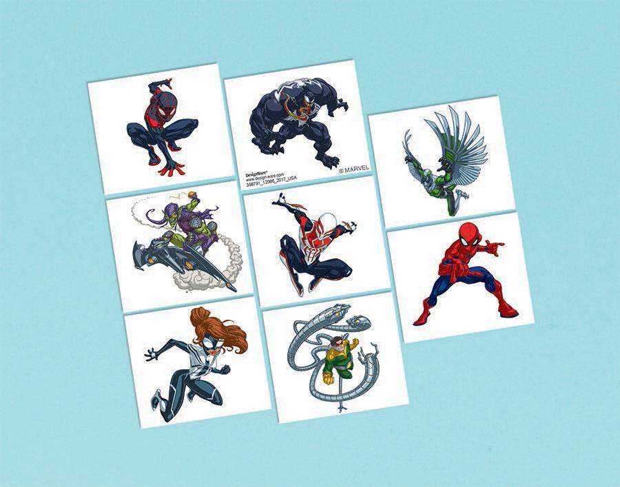 Spider-Man Webbed Wonder Tattoo Favors