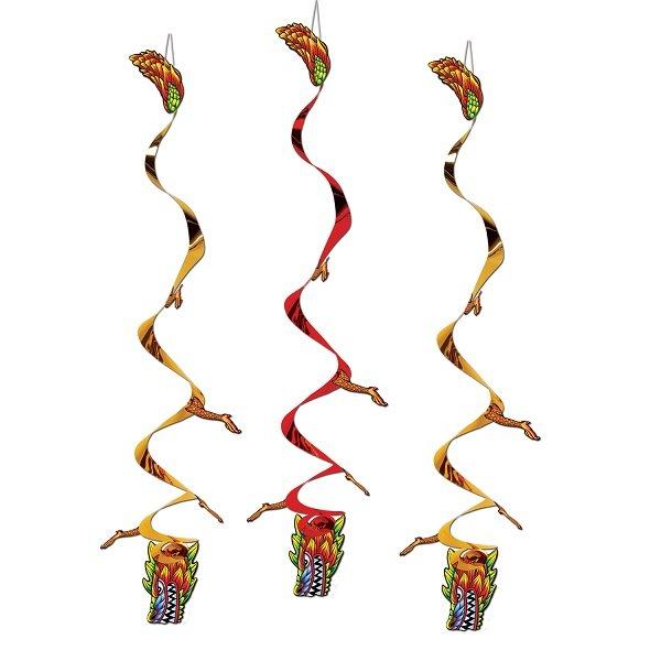 Asian Dragon Whirls Foil & Cardboard