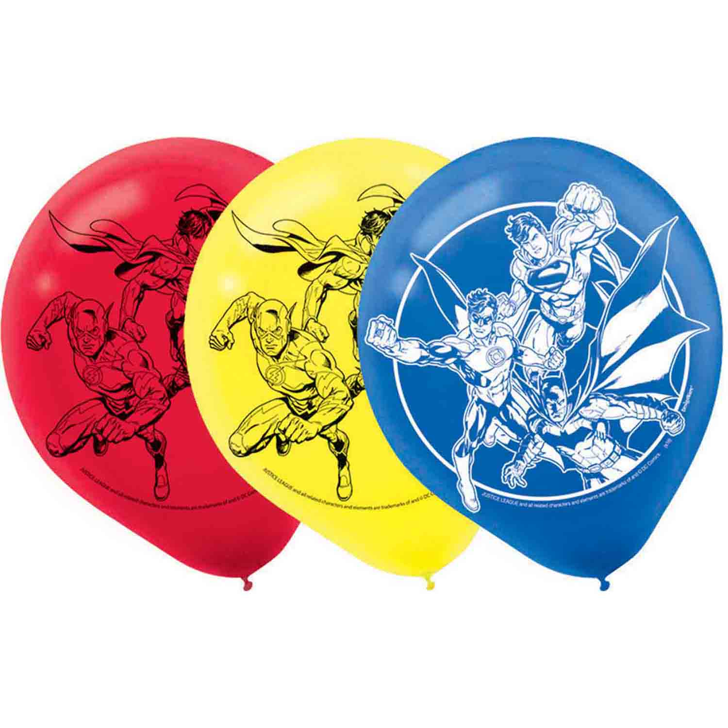 Justice League 30cm Latex Balloons