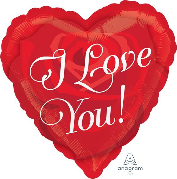 45cm Standard HX  I Love You Rose Heart S40