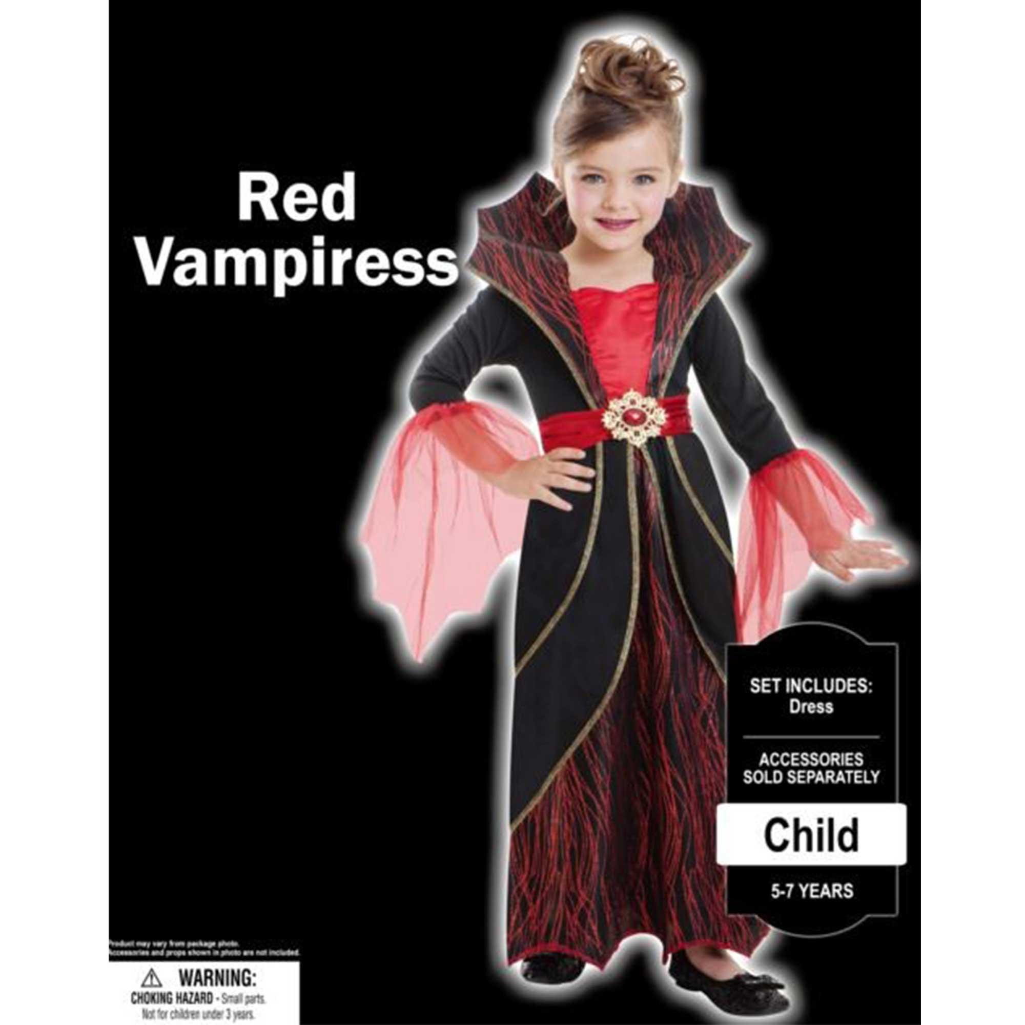 Costume Red Vampires Girls 8-10 Years
