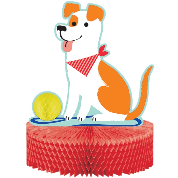 Dog Party Centrepiece Honeycomb 30cm x 23cm