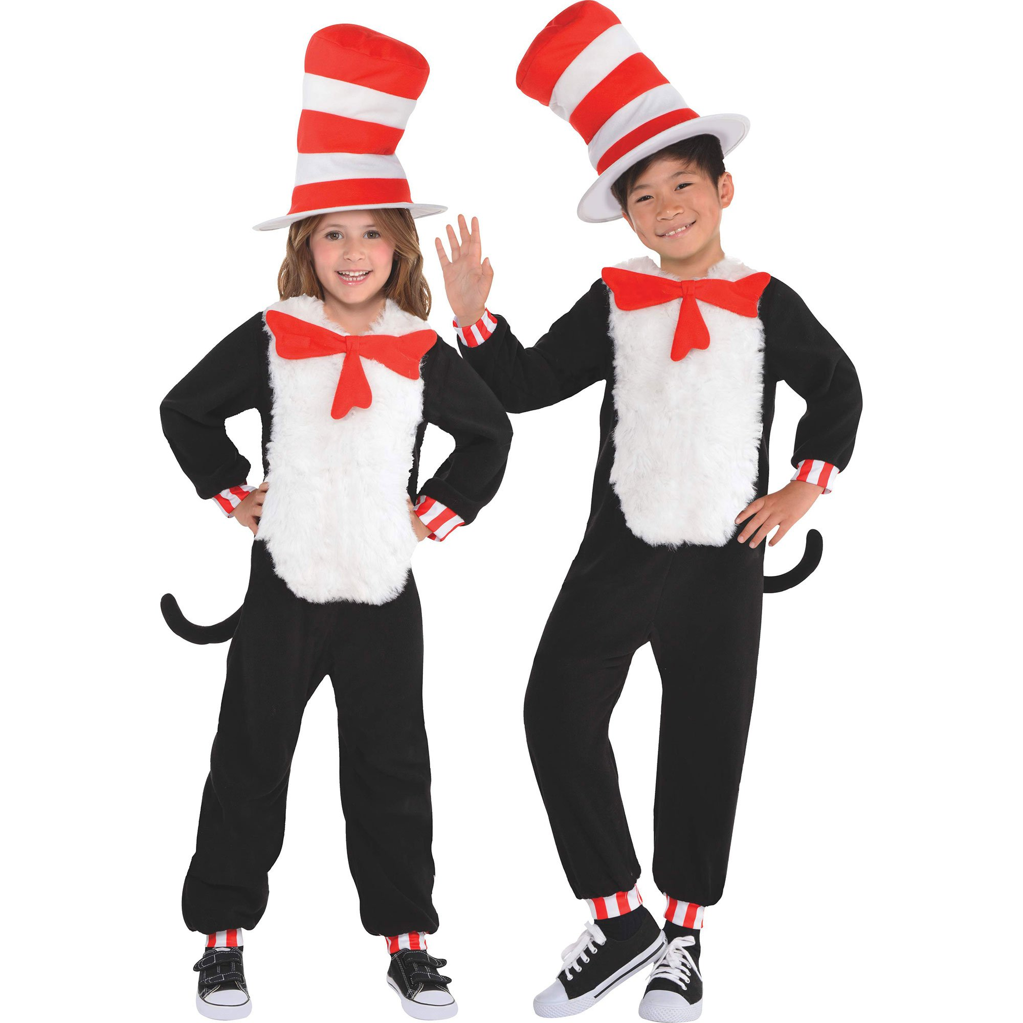 Cat in the Hat Jumpsuit Child's Costume Small