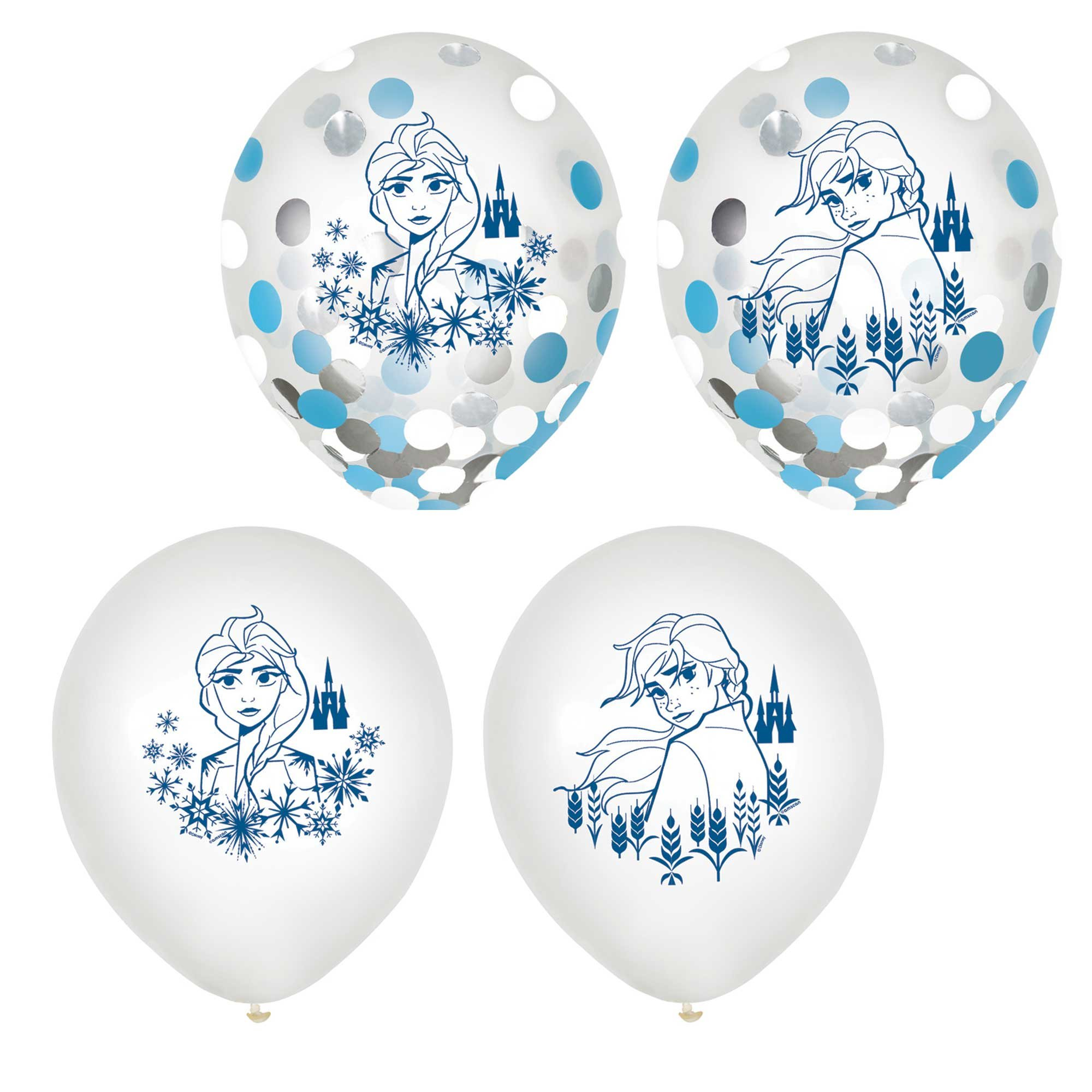 """Frozen 2 12"""" / 30cm Confetti Filled Latex Balloons"