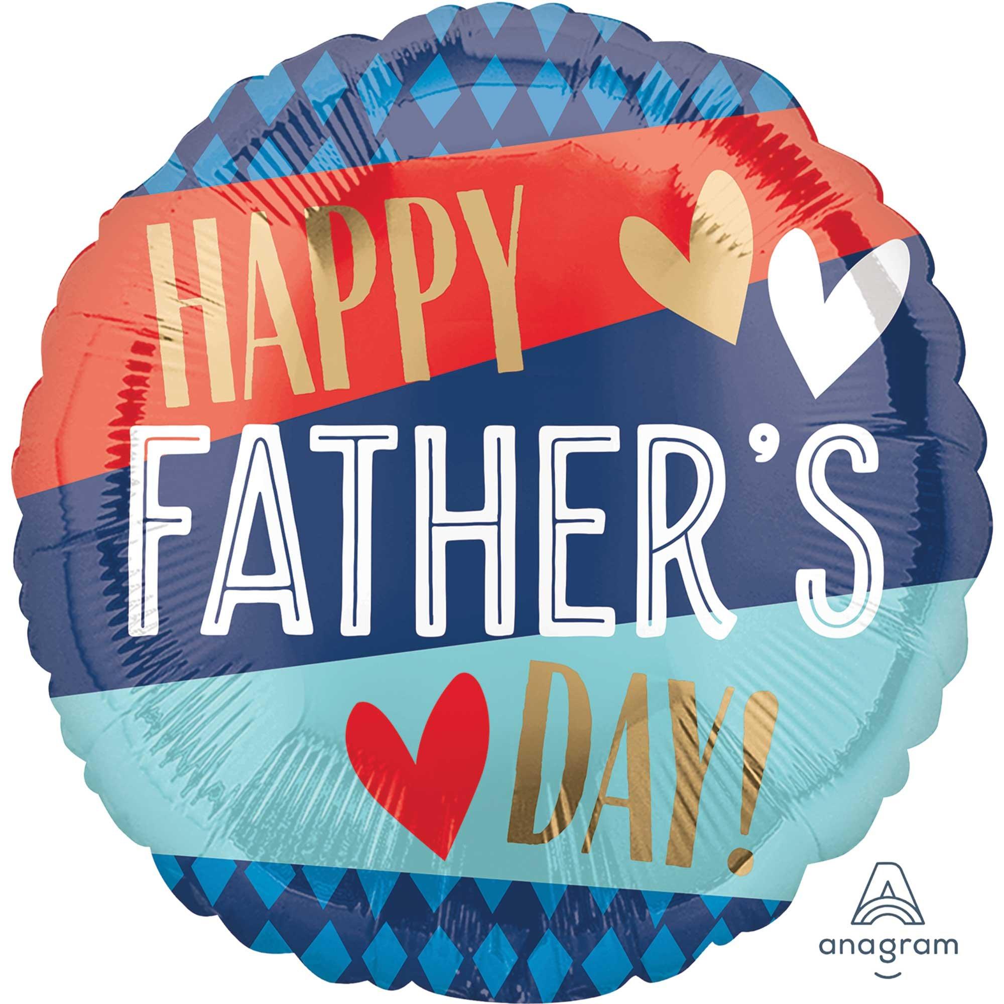 45cm Standard Happy Father's Day Stripes & Argyle Pattern S40