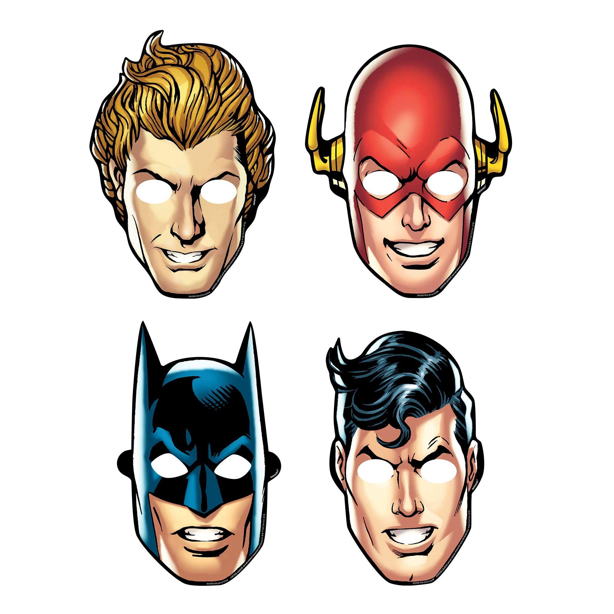 Justice League Heroes Unite Paper Masks