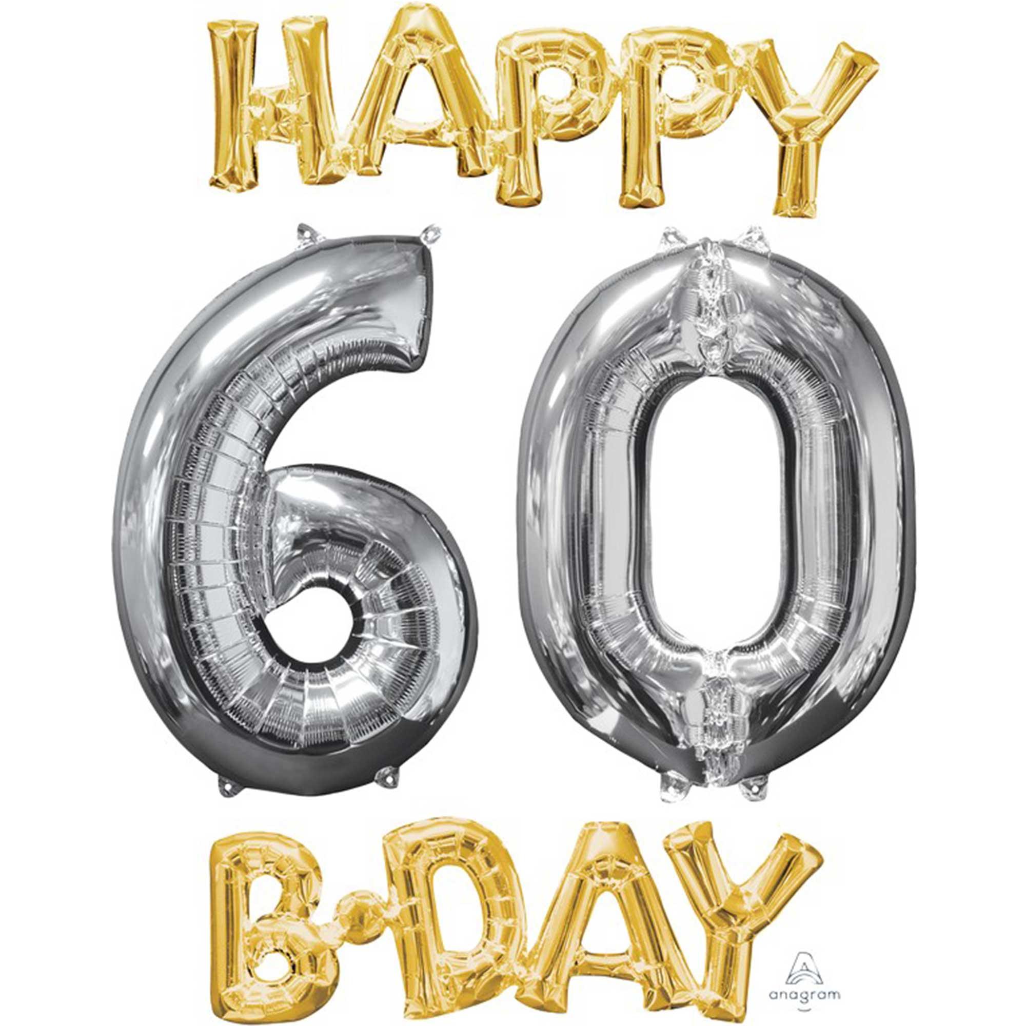 CI: Bunch Happy 60 Birthday Gold & Silver P75