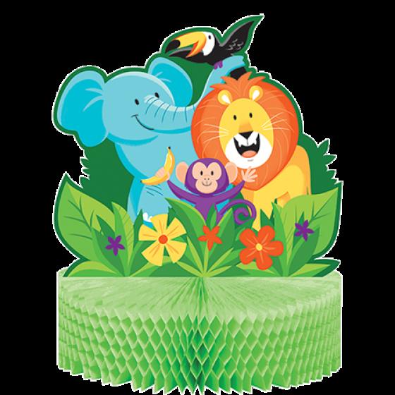 Jungle Safari Centrepiece Honeycomb 28cm x 23cm