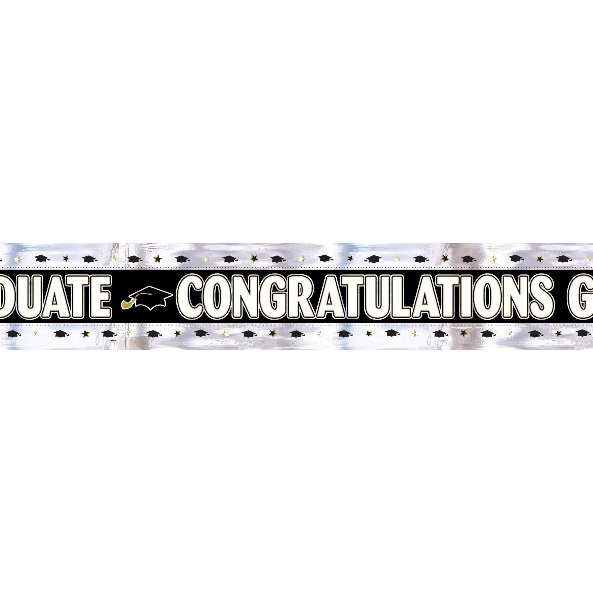 Congratulations Graduate Foil Banner 2.74m