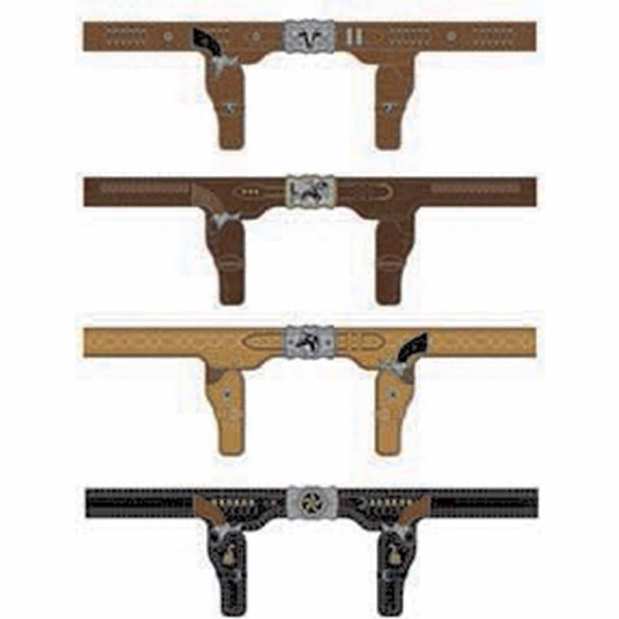 Western Printed Belts Multipack