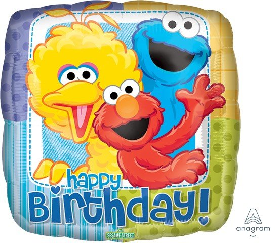 45cm Standard XL Sesame Street Birthday S60