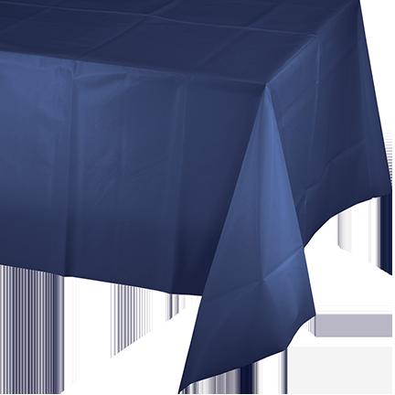 Navy Blue Tablecover Plastic 137cm x 274m