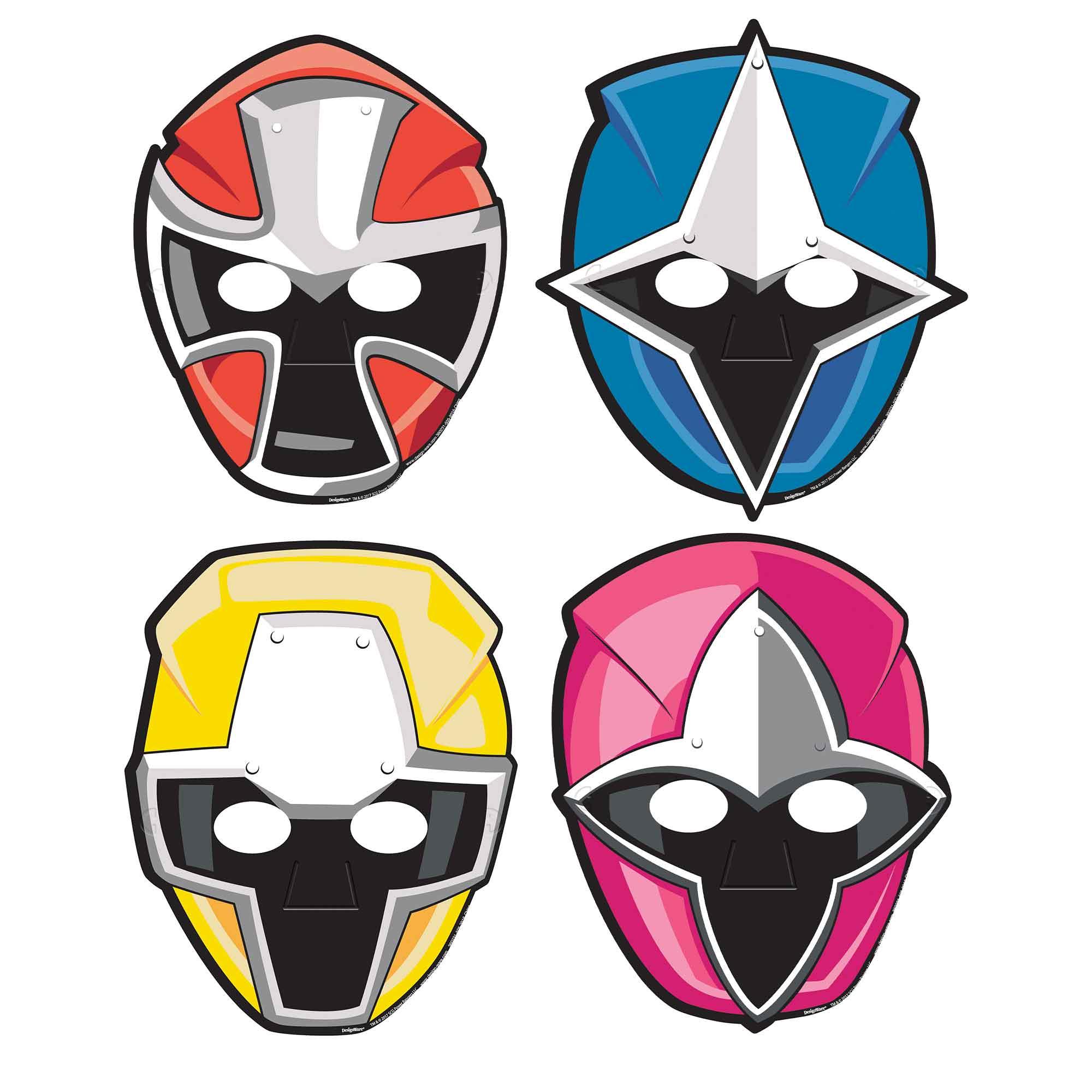 Power Rangers Ninja Steel Paper Masks