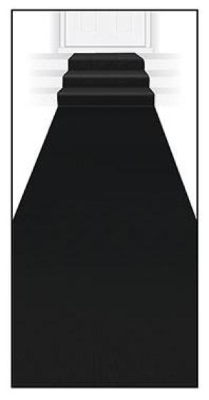 Black Carpet Floor Runner