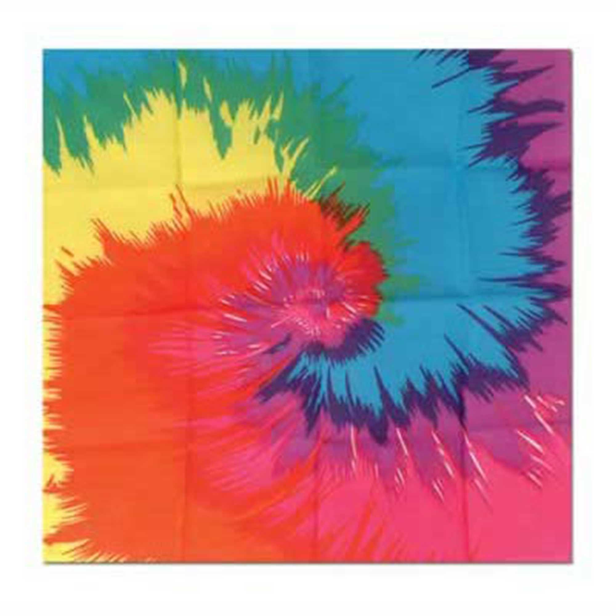 60's Funky Tie-Dyed Bandana