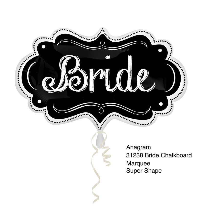 SuperShape Bride Chalkboard Marquee P35