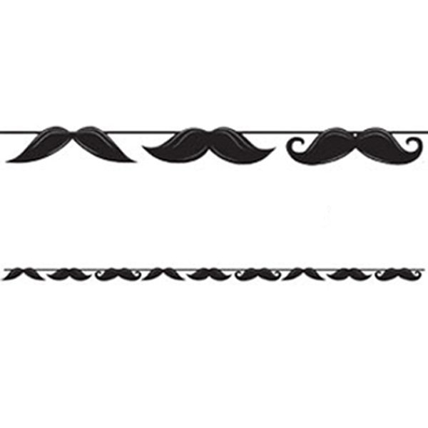 Moustache Madness Circle Ribbon Banner