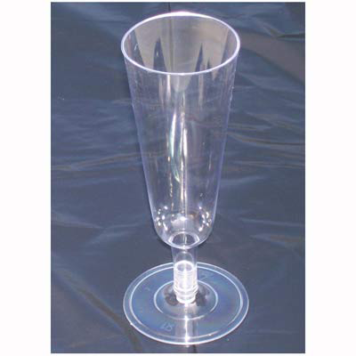 Champagne Flutes Clear Plastic 150ml