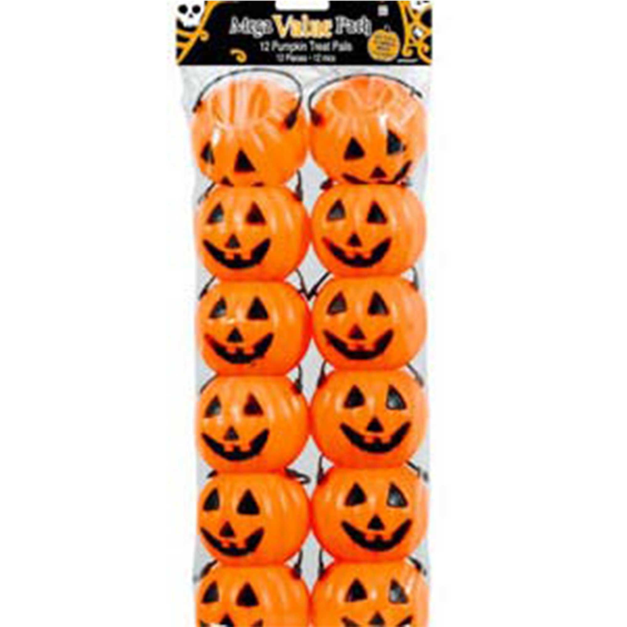 Pumpkin Smiling Treat Pails Plastic