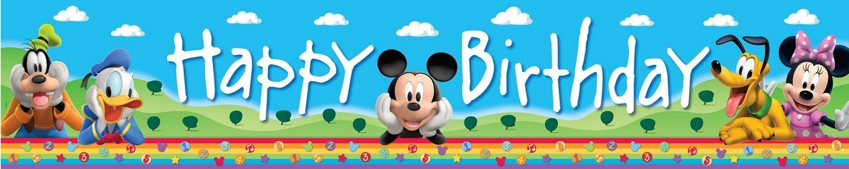 Mickey Mouse Clubhouse Plastic Banner