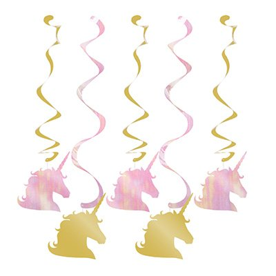 Unicorn Sparkle Dizzy Danglers Hanging Swirls