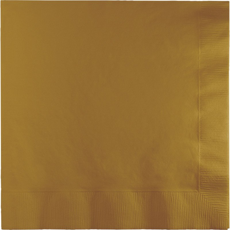 Glittering Gold Lunch Napkins