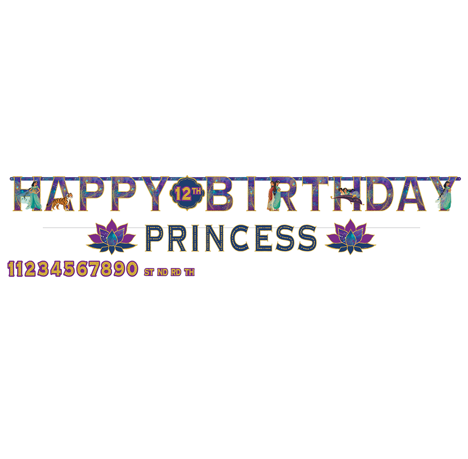 Aladdin Jumbo Add An Age Letter Banner Happy Birthday
