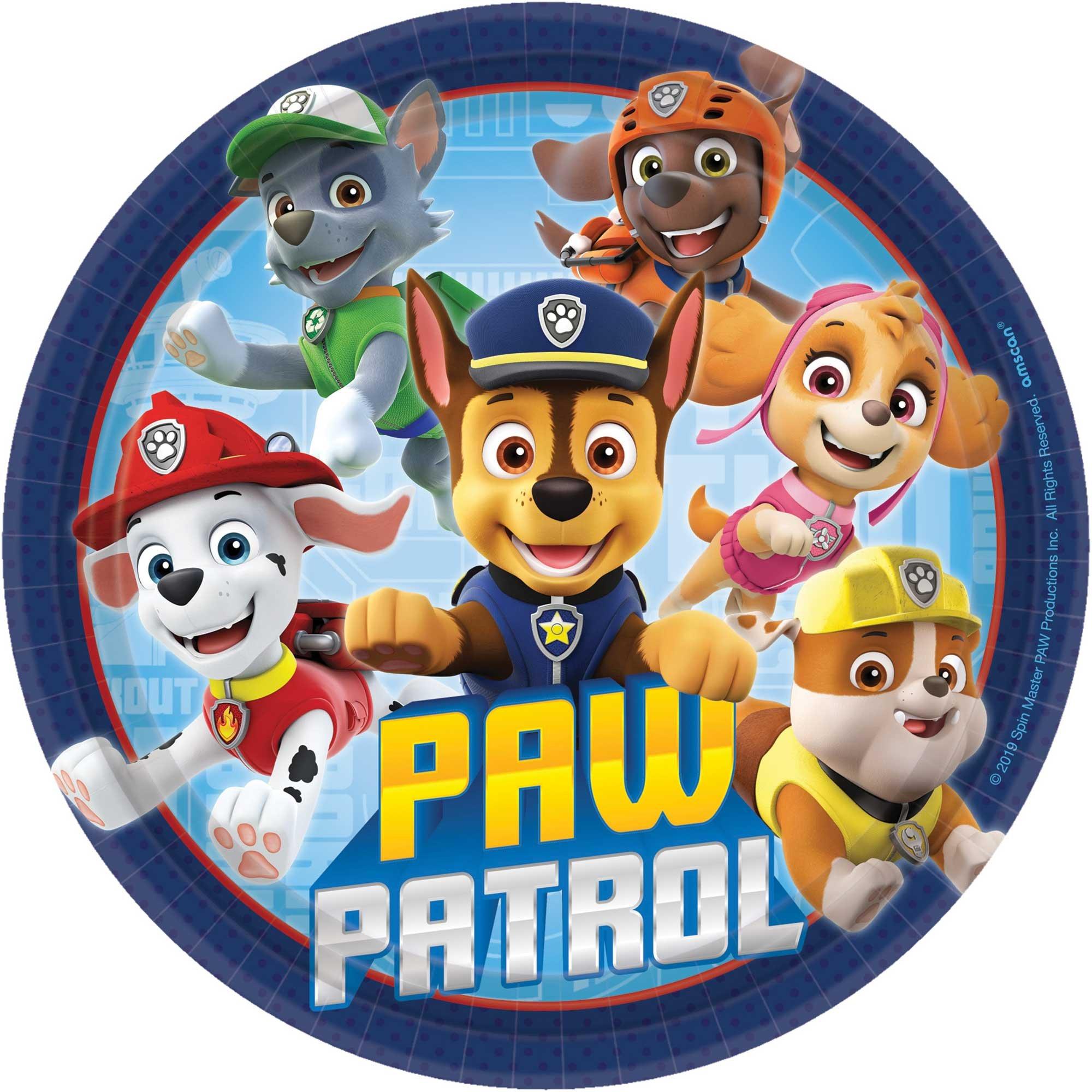 """Paw Patrol Adventures 7""""/ 17cm Round Plates"