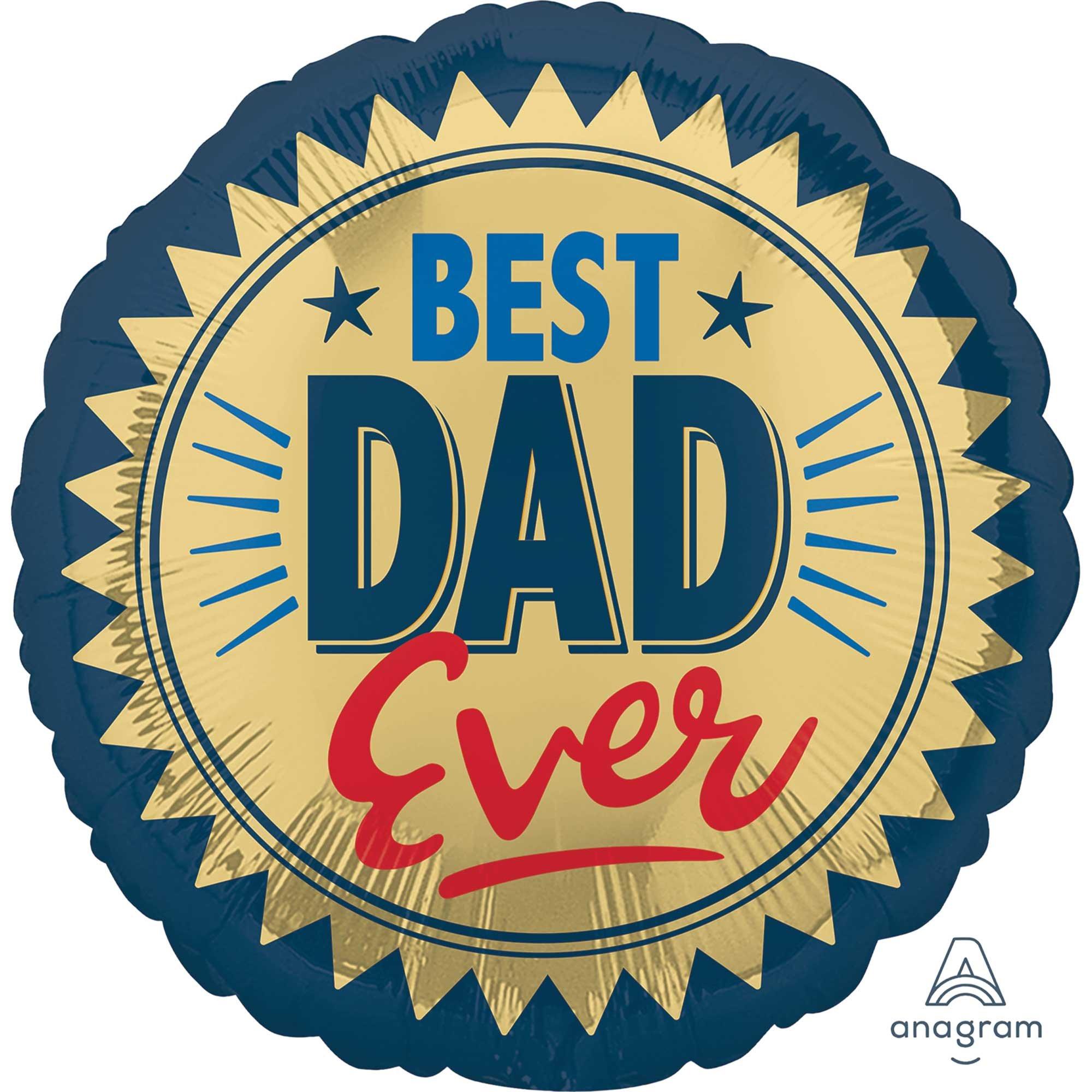 45cm Standard Best Dad Ever Gold Stamp S40