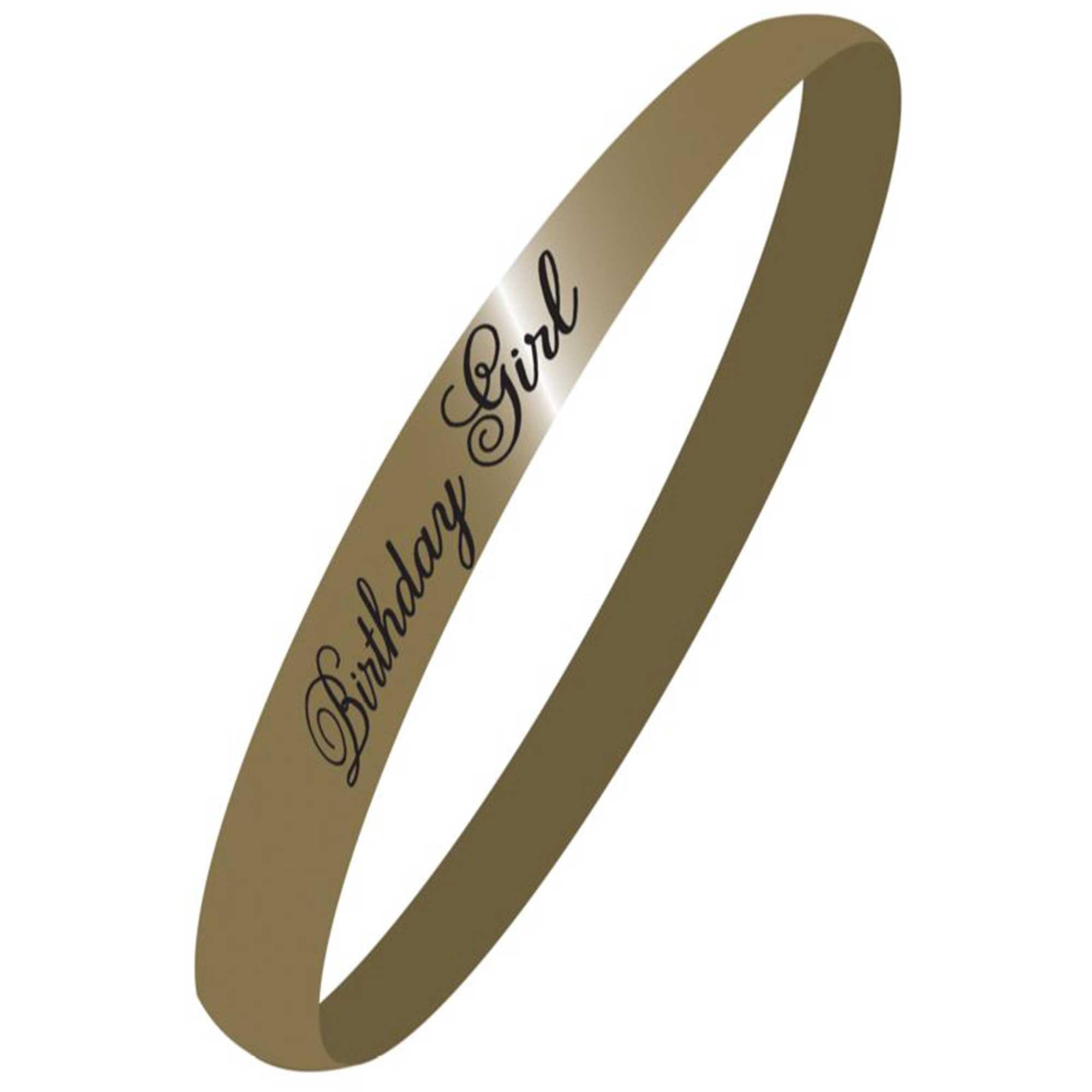 Sash Black & Gold Birthday Girl Fabric 85cm x 10cm