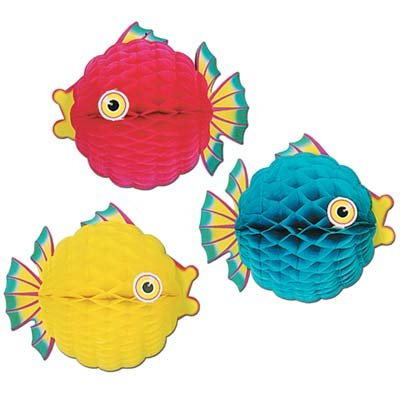 Bubble Fish Honeycomb Hanging Decoration