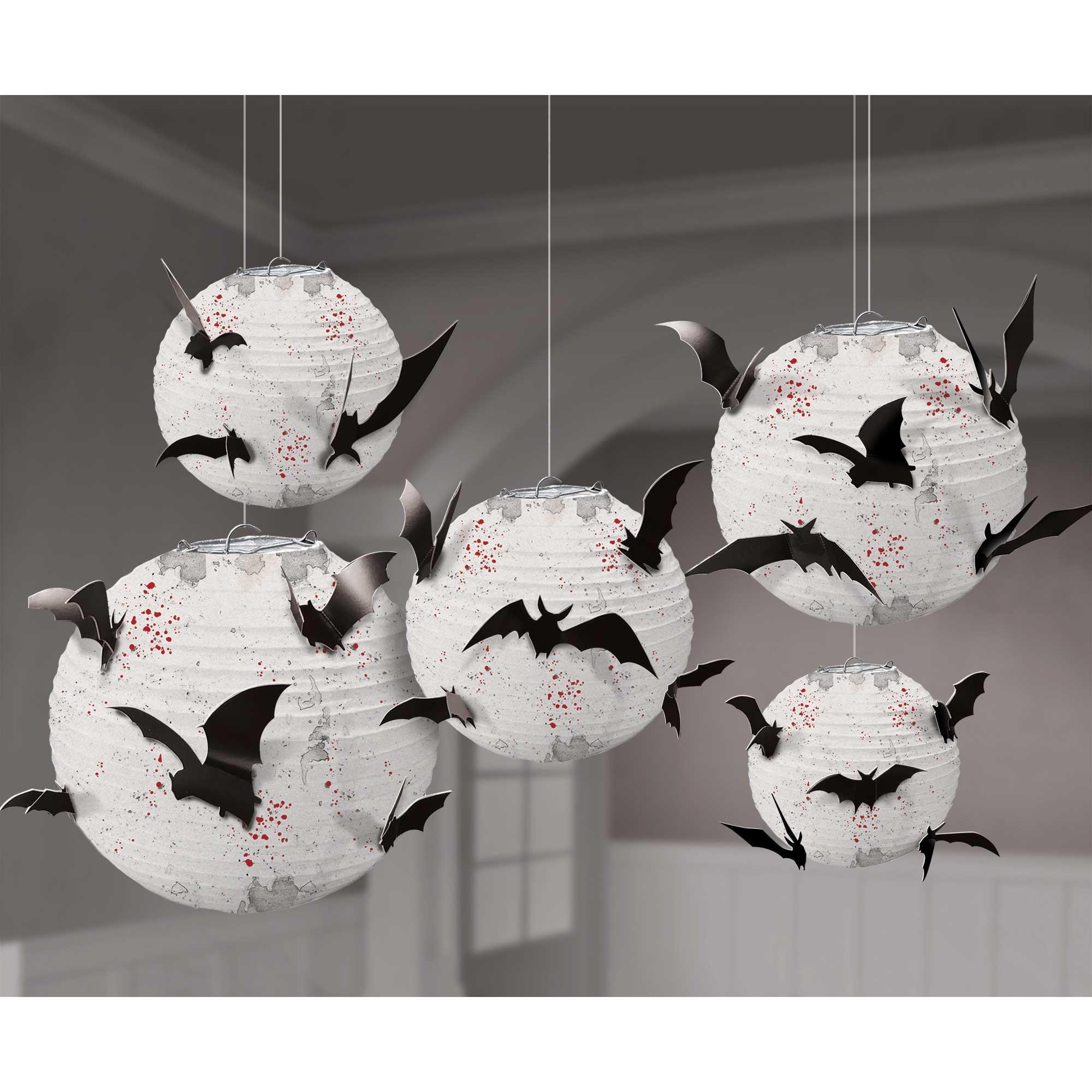Dark Manor Paper Lanterns & Cardboard Bats