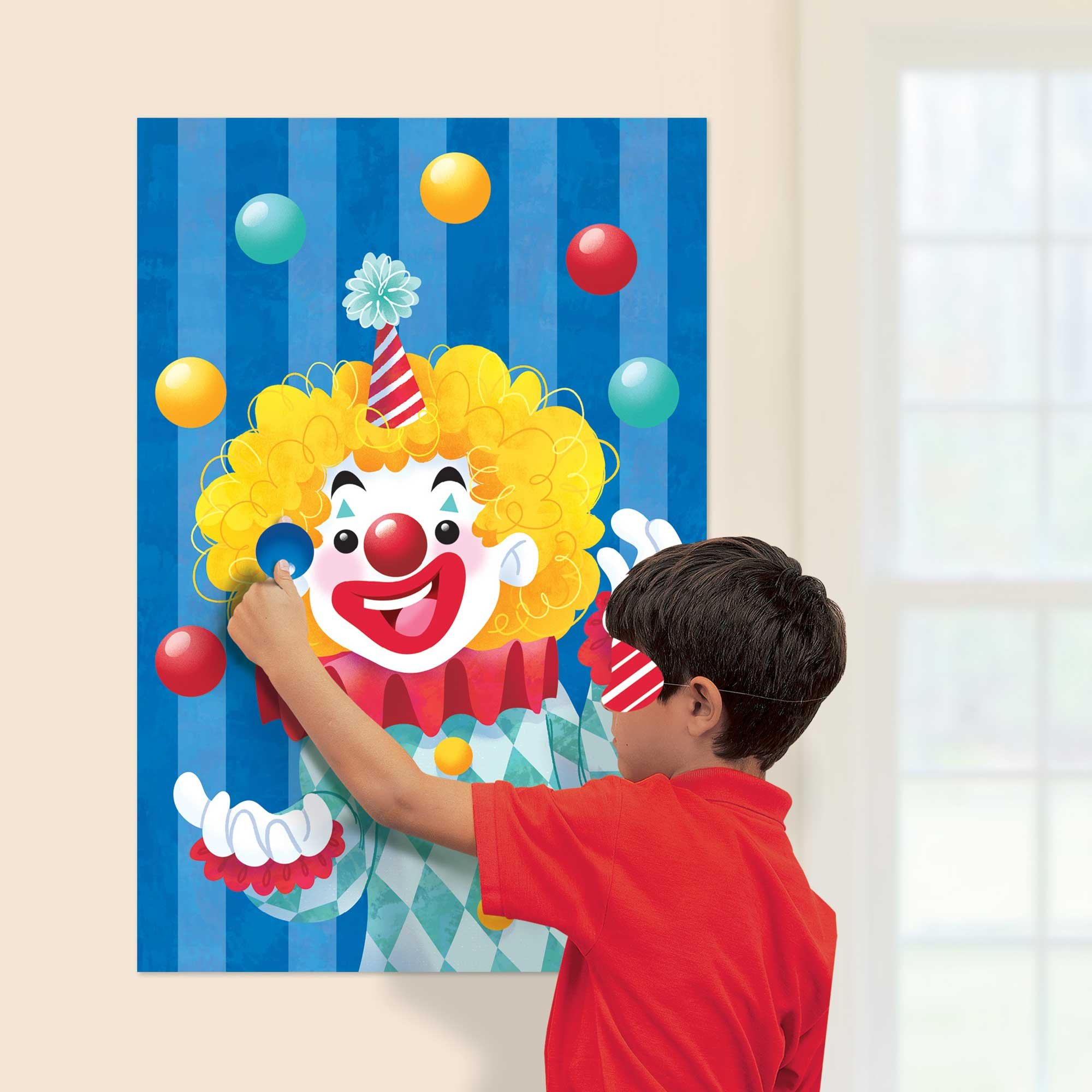 Carnival Clown Game Pin the Nose on the Clown